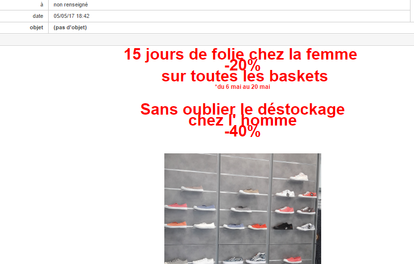 exemple de rédaction d'emailing