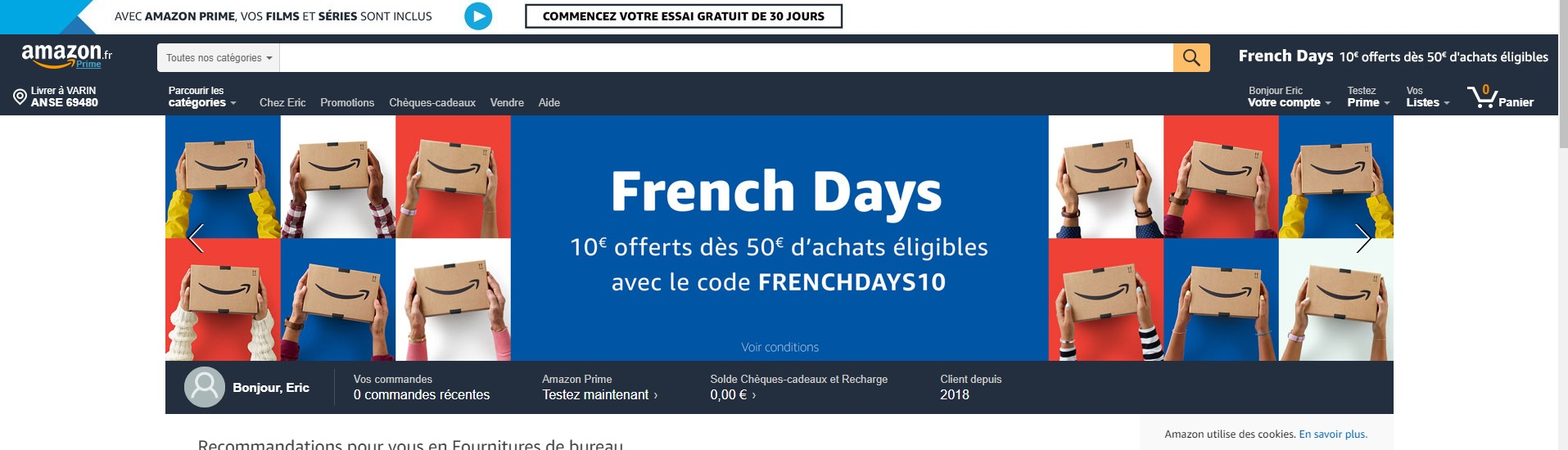 Amazon, un promoteur du e-commerce français