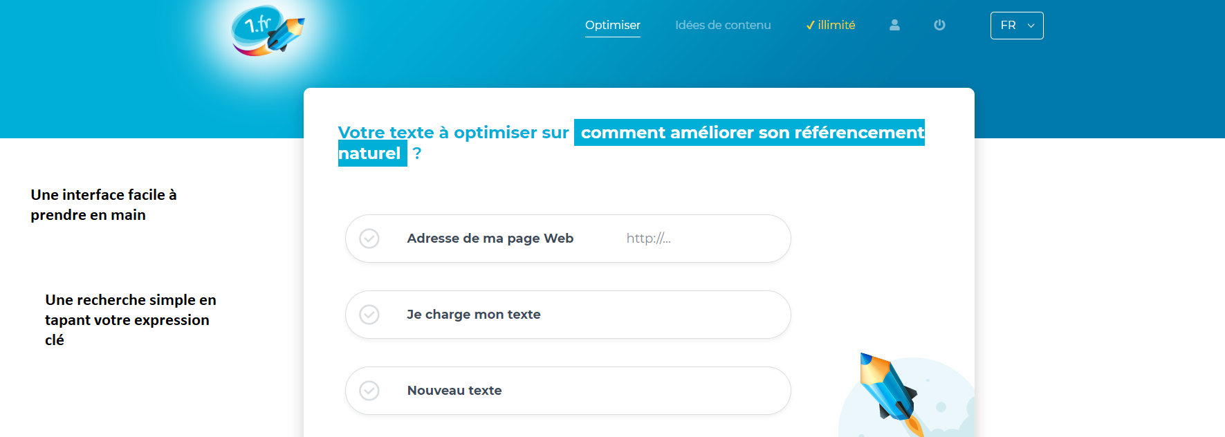 Optimiser un texte SEO avec 1.fr