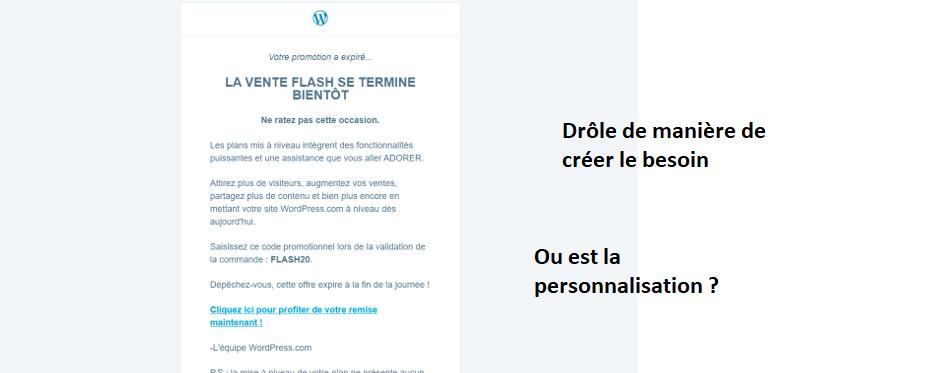 Un emailing marketing pas forcément réussi avec WordPress