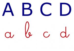 lettres majuscules et minuscules